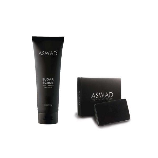 aswad facial soap 1x dan aswad scrub 1x